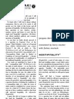 Derrida, J - Hostipitality, (2000) 53 Angelaki 3