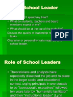 The Role of School Leaders