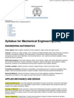 Syllabus for Mechanical Engineering (ME) _ GATE 2013