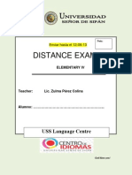 Distance Exam 1 E04 Ingles Dennis