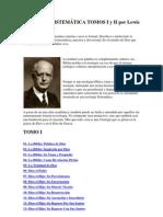 TEOLOGÍA SISTEMÁTICA TOMOS I y II por Lewis Sperry Chafer