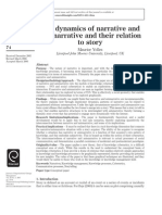 The Dynamics of Narrative and Ante Narrative and Their Relation to Story