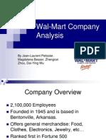 Walmart Company Analysis Report