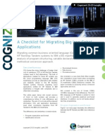 A Checklist for Migrating Big Iron Cobol Applications