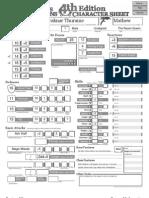 Mathew Character Sheet