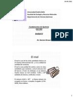 Clase IV Mol y Reacciones. QUI-0045