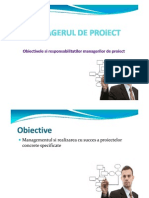 Managerul de Proiect