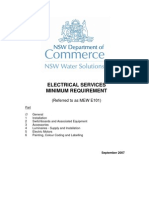 Electrical Service Minimum Requirment