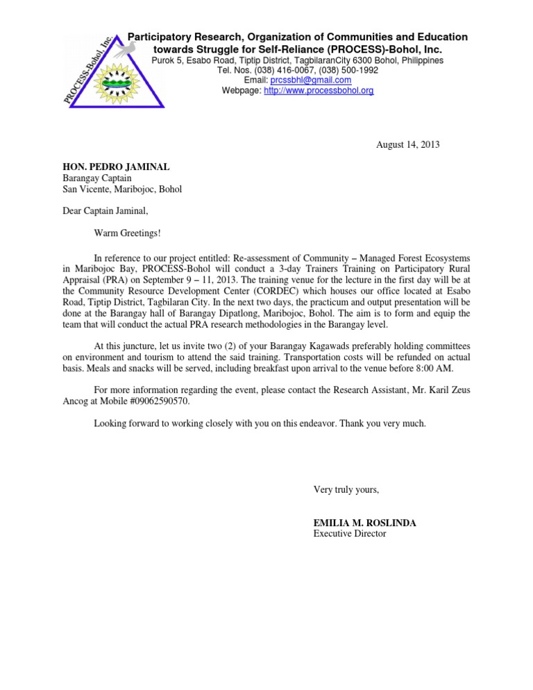 Sample invitation letter stopboris Image collections