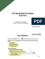 Presentation on CST Microwave Studio