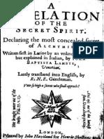 Agnello Revelation of the Secret Spirit 1622