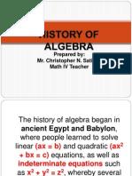 1. History of Algebra