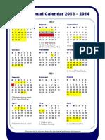 annual calendar 2013-14 1