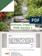 Bahasa Inggeris PMR K1