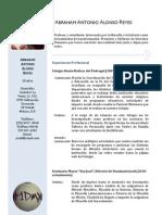 Curriculum Abraham Alonso Reyes