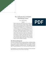 authenticationofhadith-redefiningcriteria