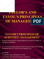Taylor s and Fayol s Principles of Management