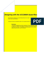 UCC28600 Calculation