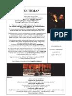 Gary Guthman Polskie CV Artystyczne, Zdjęcia (pdf)