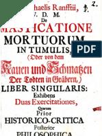 Ranft, Michael de Masticatione Mortuorum in Tumulis (1728)