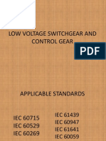 Low Voltage Switchgear and Control Gear