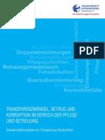 Studie Transparenzmaengel Betrug Und Korruption Im Bereich Der Pflege Und Betreuung