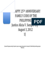 Happy 25th Anniversary Family Code of the Philippines