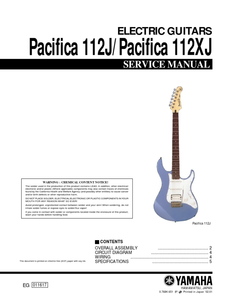 Yamaha    Pac 112j Svc Manual