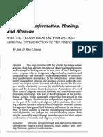 Spiritual Transformation, Healing, And Altruism - Introduction - Koss-Chioivo