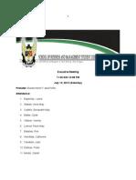 Sbmsc Executive Meeting-july 13