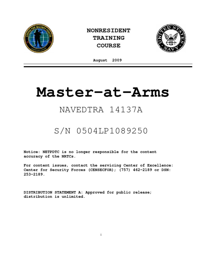 Navedtra 14137a ma rtm1 counter terrorism physical security yelopaper Gallery