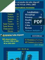 Les Tumeurs Stromales Du Tube Digestif Enquete SCVO 2005