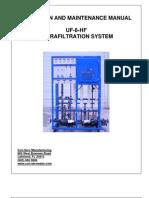Con-serv 6 Gpm Uf System Operating Manual 7-28-11 Rev