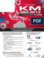 KM Asia 2013 Brochure