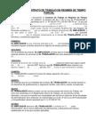 Modelo de Contrato de Trabajo en Regimen de Tiempo