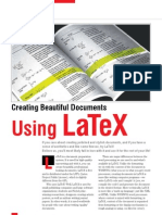 Creating beautiful documents using LateX