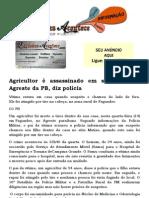 Agricultor é assassinado em seu sítio no Agreste da PB, diz polícia