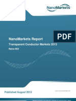 """Chapter from the NanoMarkets report, """"Transparent Conductor Markets 2013"""""""