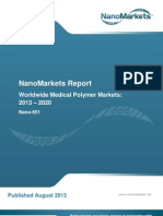 """Chapter from NanoMarkets' report, """"Worldwide Medical Polymer Markets"""