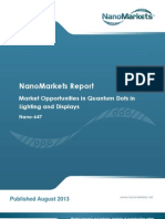 Chapter from NanoMarkets' report on Quantum Dots in Lighting and Displays