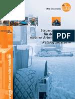 Steuerungssysteme für den Einsatz in mobilen Arbeitsmaschinen - Katalog Deutsch 2013/2014