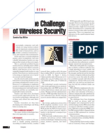 Challenge of Wireless Security