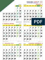Kalender Islam 1434 Hijriyah