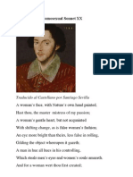 Shakespeare's Sonnet XX