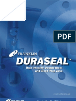Double Block & Bleed Plug Valve Weight Refernce