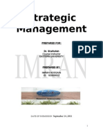 Strategic Management Question and Answer by RK