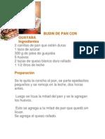 Budin de Pan Con Guayaba