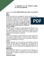 Cortes de Carne Vacuna Argentina