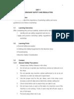 Unit 1-Safety & Regulation