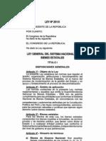 Ley 29151 Ley General Del Sistema Nacional de Bienes Estatales
